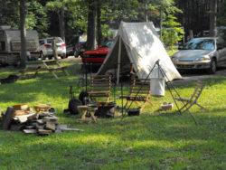 camp sites at shady brook campground in pa