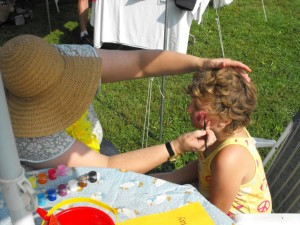 face painting at shady brook campground
