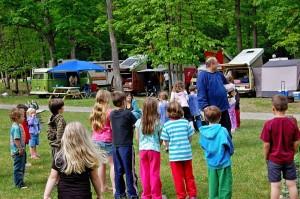 kids having fun at shady brook campground
