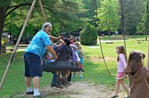 family fun photo at shady brook campground