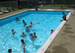 swimming pool at shady brook campground