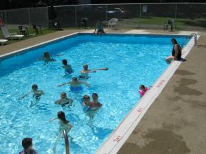 swimming pool at shady brook campground