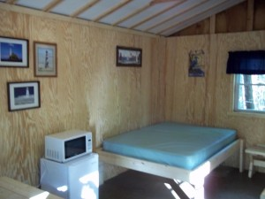 photo of bed in cabin