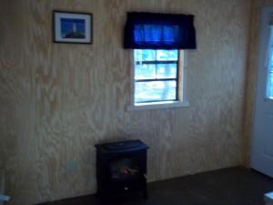 woodstove in cabin