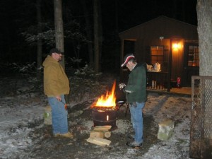 campfire at shady brook campground