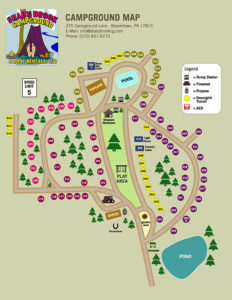 Shady Brook Campground Sitemap