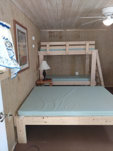 sleeping area at shady brook campground at the cabin rental in pa