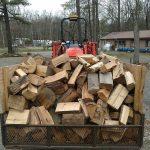 bin of firewood