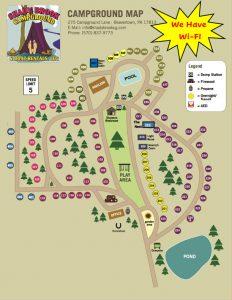 shady brook campground sitemap